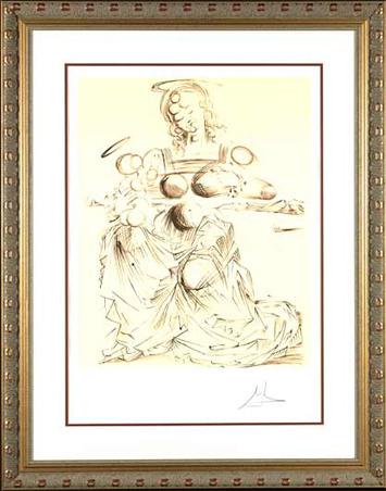 "Salvador Dalí, '""Disintegrating Mother and Child""Hand Signed Salvador Dali Lithograph', 1941-1957, Elena Bulatova Fine Art"