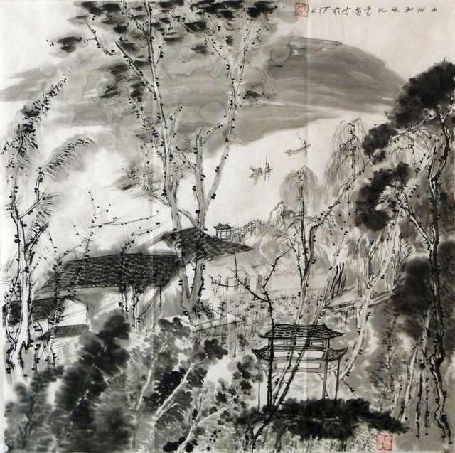 , 'Painting in the West Lake 西湖写生 ,' , Tian Bai Calligraphy and Painting (天白書畫)