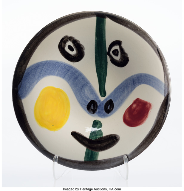 Pablo Picasso, 'Visage No. 0', 1963, Other, White earthenware ceramic plate with coloured engobe and glaze, Heritage Auctions