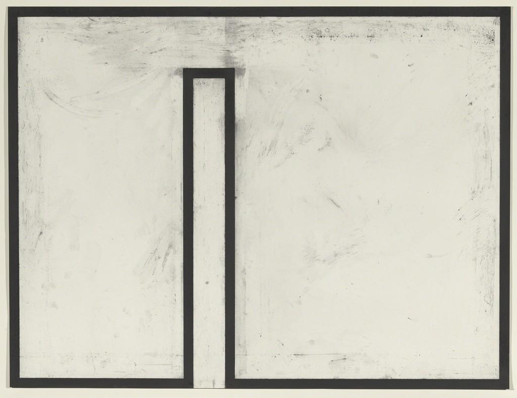 Joel Shapiro, Untitled, 1975. Charcoal on paper. Yale University Art Gallery, Richard Brown Baker, b.a. 1935, Collection. © 2018 Joel Shapiro/Artists Rights Society (ARS), New York