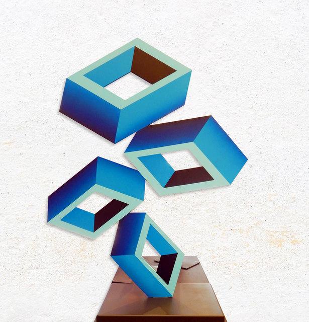 , 'Blue Perspective (Large),' 2019, Aura Galerias