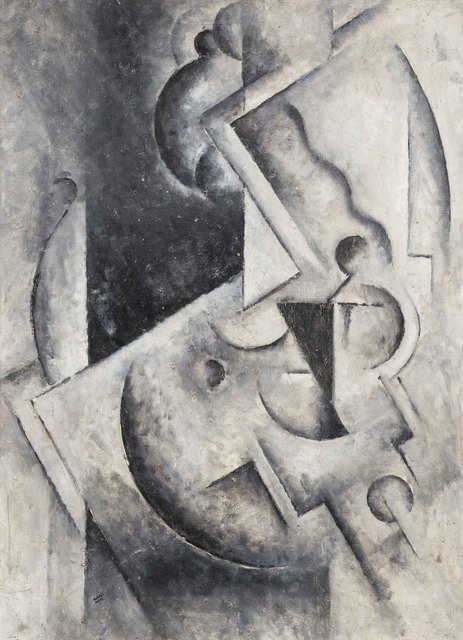 Robert Marc, 'Composition cubiste', painted in the end of the 1970s., Leclere