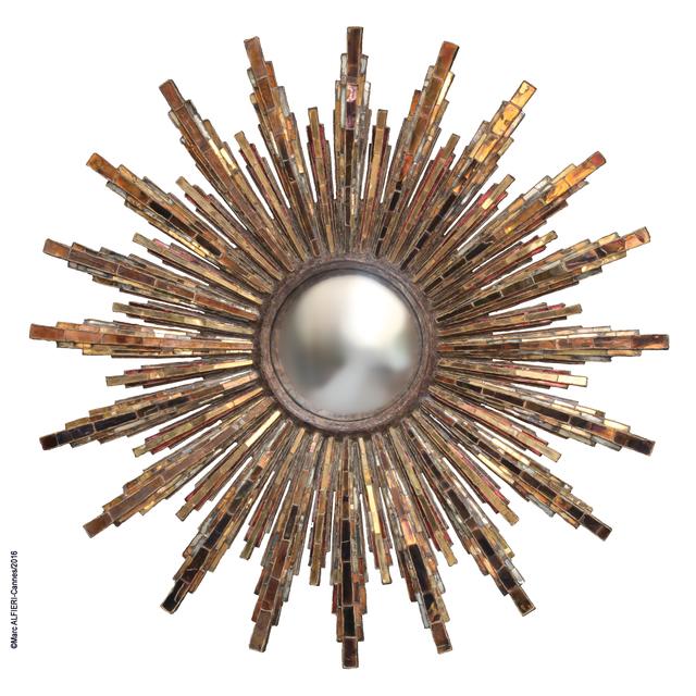 , 'Roi Soleil mirror,' ca. 1965, Maison Gerard