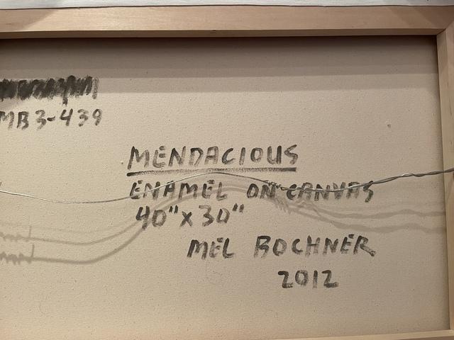 Mel Bochner, 'Mendacious', 2012, Painting, Enamel on Canvas, Corridor Contemporary