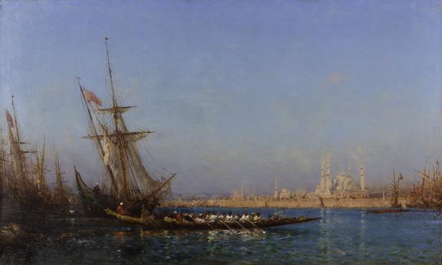, 'View of İstanbul,' ca. 19, Pera Museum