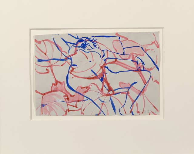 David Salle, 'Untitled', 2001, Drawing, Collage or other Work on Paper, Ink and watercolor in colors on paper, Heritage Auctions