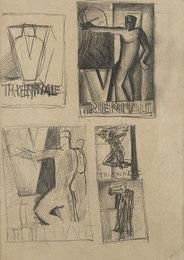 Studio per manifesto della V Triennale, s.d, inzio anni '30