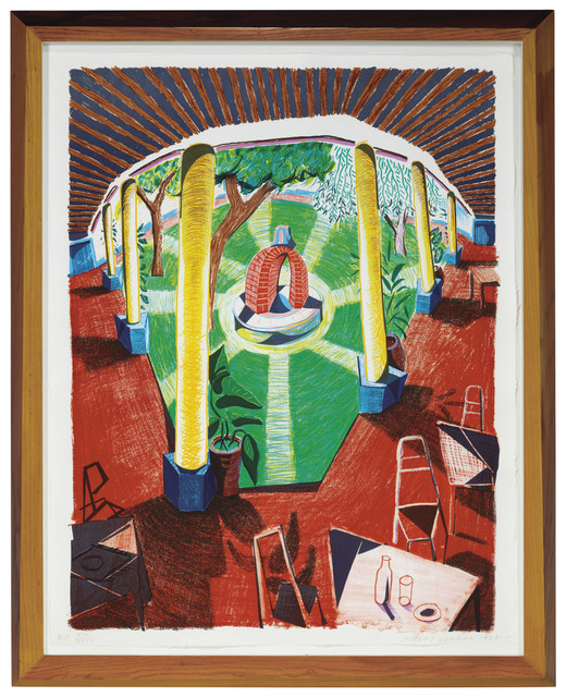 David Hockney, 'View of Hotel Well III, from Moving Focus', 1984-85, Christie's