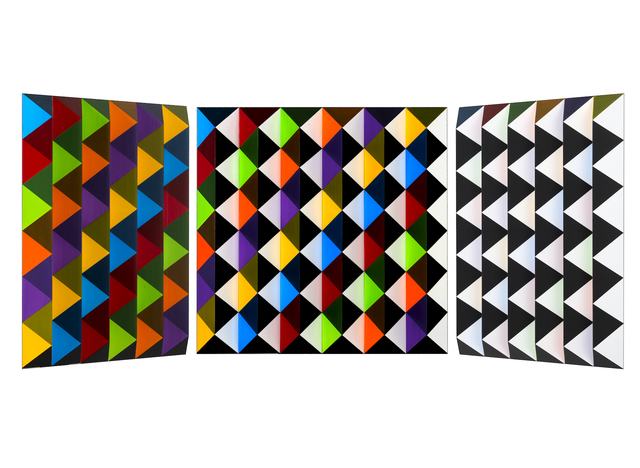 , 'V62 - bunt/unbunt, diagonal-hellgelb ,' 2015, Joerg Heitsch Gallery
