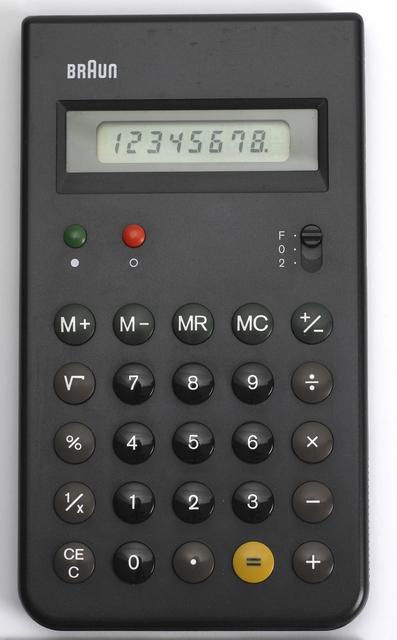 Dieter Rams and Dietrich Lubs, 'Calculator: ET55', 1980, Cooper Hewitt, Smithsonian Design Museum