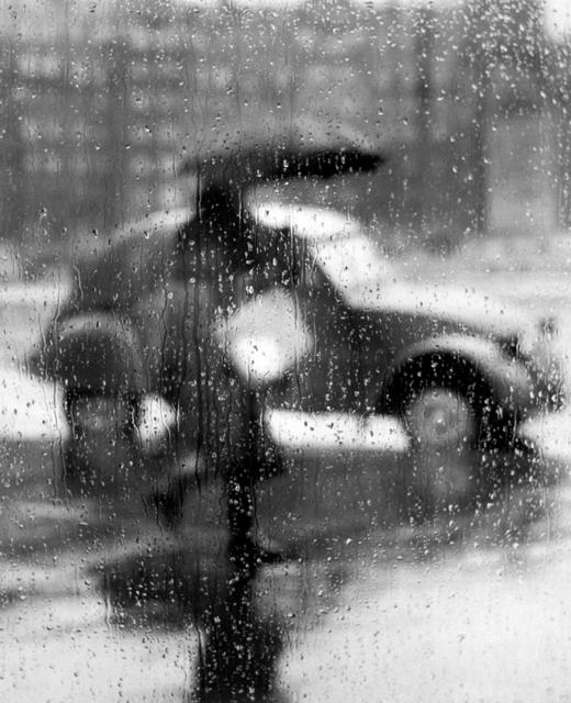 Sabine Weiss, '2CV sous la pluie, Paris', 1957, Holden Luntz Gallery