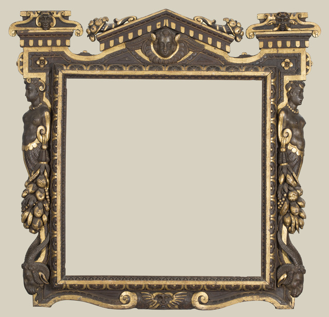 , 'A partially gilded carved walnut Sansovino frame,' possibly 1550s, The National Gallery, London