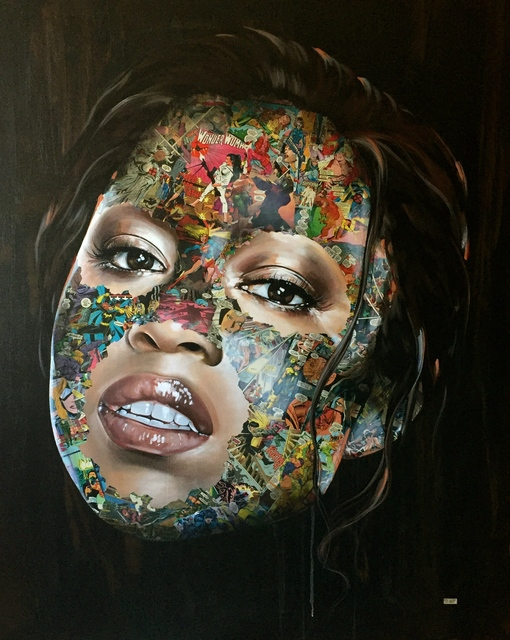 Sandra Chevrier, 'la cage quand la lumière règne', Painting, Acrylic and collage on canvas, Joseph Gross Gallery