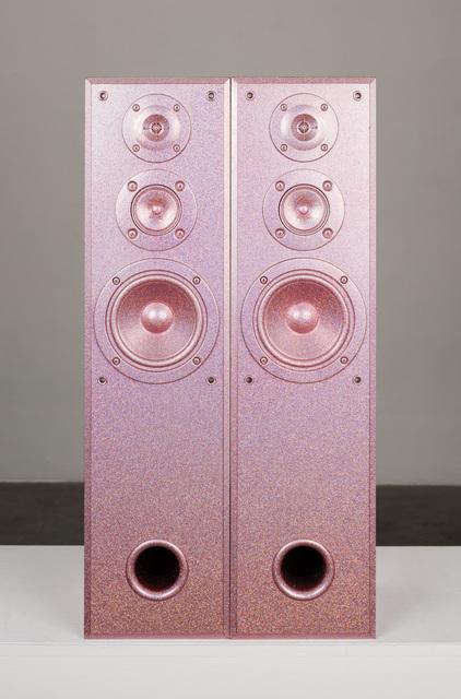 Sadie Barnette, 'Untitled (Large Pink Speakers Set)', 2019, Charlie James Gallery