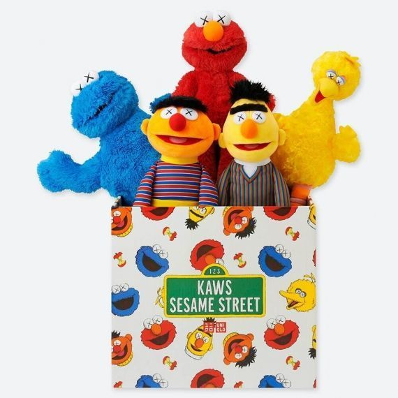 KAWS, 'KAWS x Sesame Street (complete set of 5 with box) ', 2018, Plus
