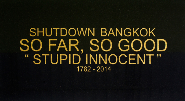 , 'Shutdown Bangkok - Black Granite series,' 2015, Sundaram Tagore Gallery