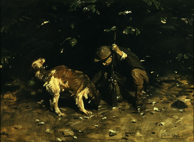 , 'The Hunter and His Dog,' circa 1910, Blanton Museum of Art