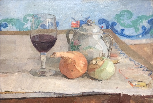 , 'Still Life with Onions and Wine Glass,' 1962, Browse & Darby