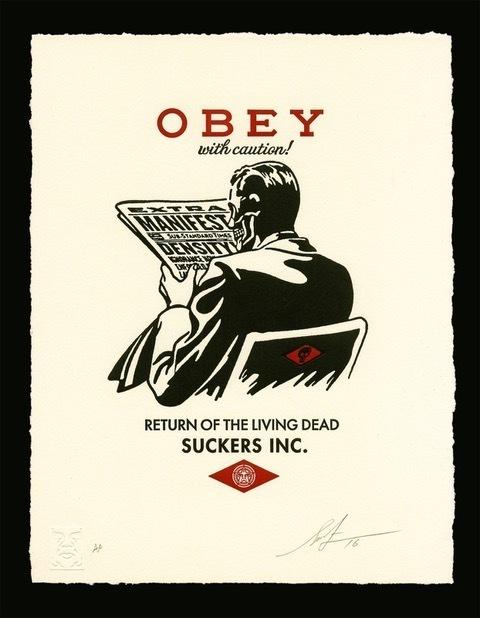 Shepard Fairey (OBEY), 'obey with caution letterpress', 2017, Rudolf Budja Gallery