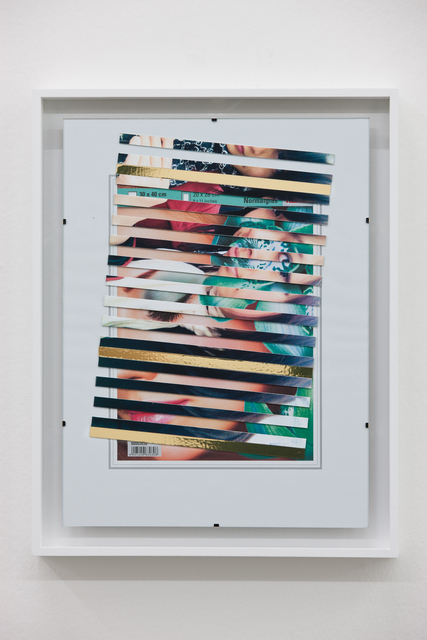 Riccardo Previdi, 'Life on Saturn', 2012, Mixed Media, Detail found photograph, adhesive foil, Francesca Minini
