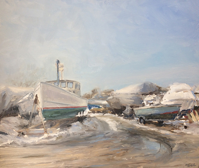 , 'Winter At The Boatyard,' , The South Street Gallery