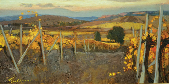 , 'Autumn Vineyard,' 2014, Paul Scott Gallery & galleryrussia.com