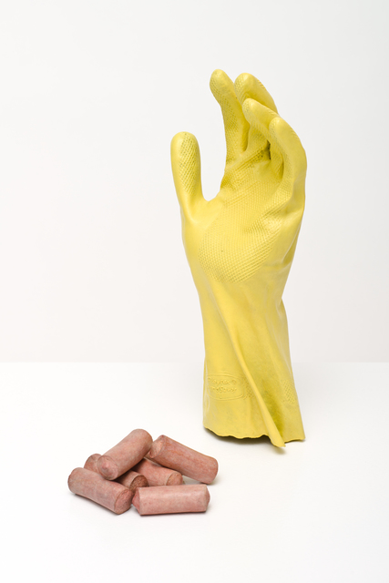 , 'glove and sausages,' 2015, Lora Reynolds Gallery