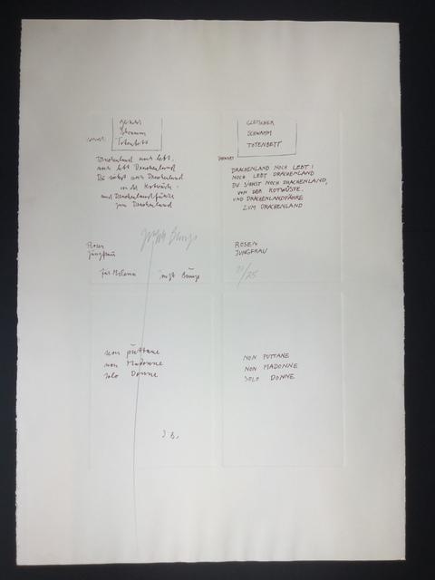 Joseph Beuys, 'Gletcher Schwamm Totenbett', 1979, Gutan Art Gallery