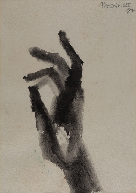 Akbar Padamsee, 'Hand', 1987, Painting, Watercolor on paper, Museum of Art & Photography