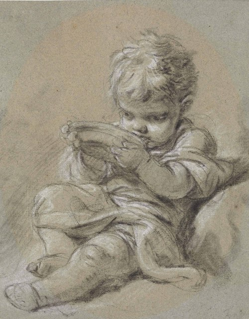 , 'A small child seated, drinking from a bowl,' , Christie's Old Masters