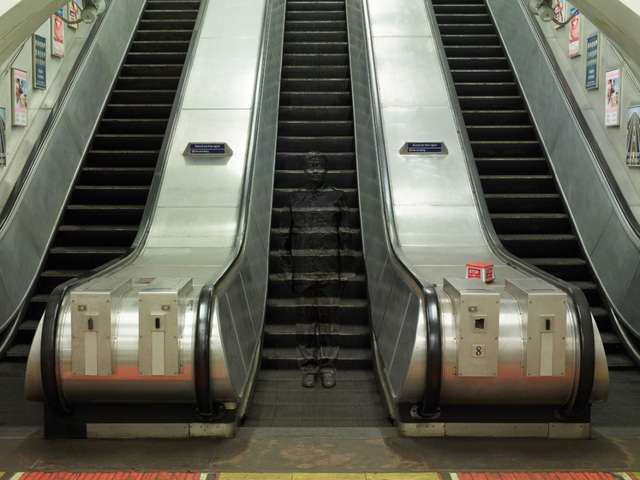 , 'Hiding in London No. 3 —Underground Escalators,' 2014, Jackson Fine Art