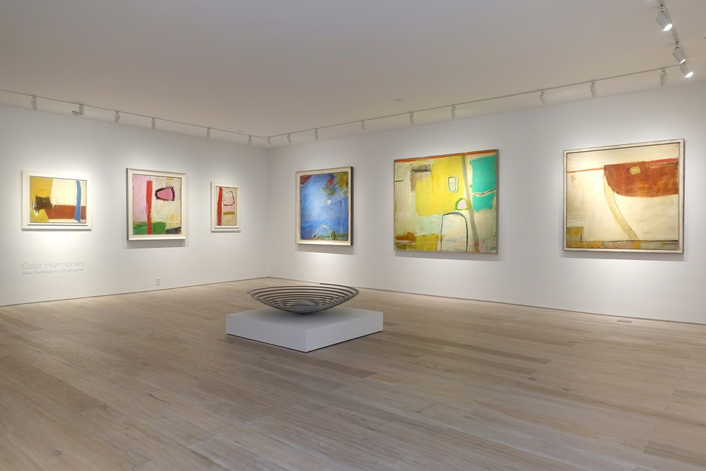 "Installation view: ""Color Harmonies: New Paintings by Chloë Lamb"""