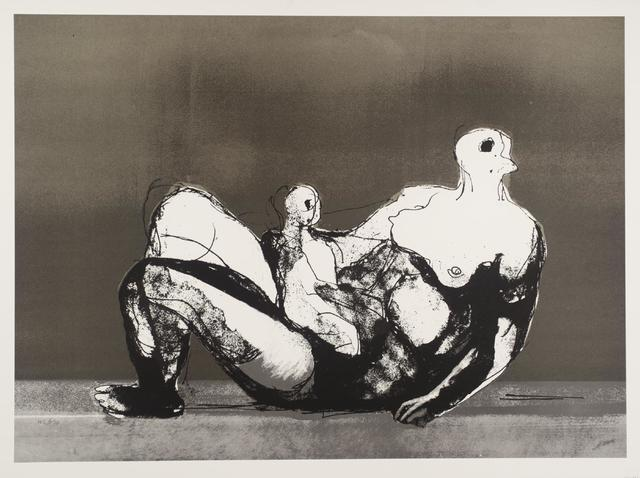Henry Moore, 'Reclining Mother and Child with Grey Background', 1983, Puccio Fine Art