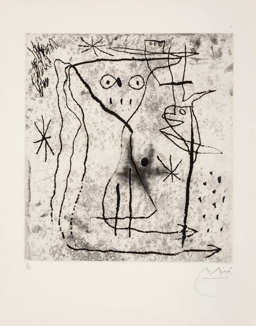 Joan Miró, 'Jeune fille aux deux oiseaux, from Trente ans d'activite', 1967, Heritage Auctions
