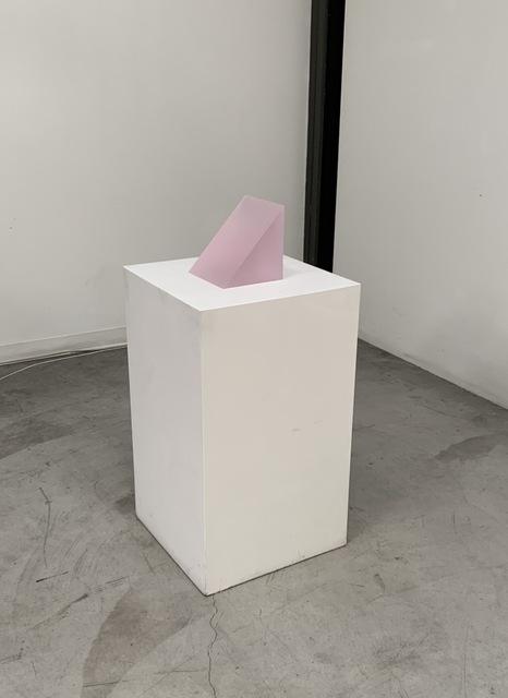 Peter Alexander, '3/20/18 (Frosted Pink Wedge)', 2018, Sculpture, Cast Urethane, Emily Friedman Fine Art