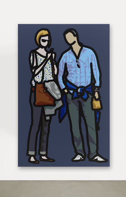 , 'Woman texting with man looking on.,' 2013, Corridor Contemporary