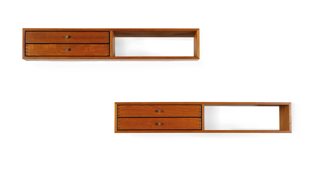 Kai Kristiansen, 'Set of 2 wall mounted console', circa 1960, Aguttes