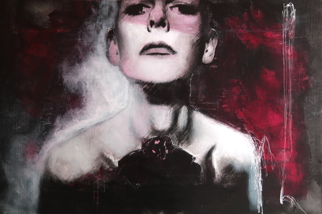 Virginie Bocaert, 'Je peux voir', 2014, Painting, Mixed media on board, Thompson Landry Gallery