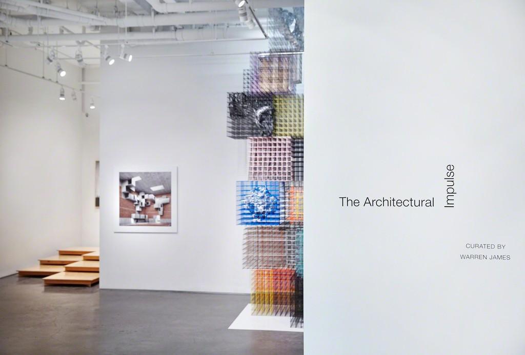 Installation view: The Architectural Impulse, 2015. Photo John Muggenborg.