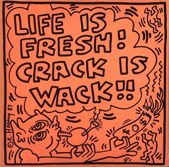 Keith Haring, 'Keith Haring Crack Is Wack Record Art 1987', 1987, Lot 180