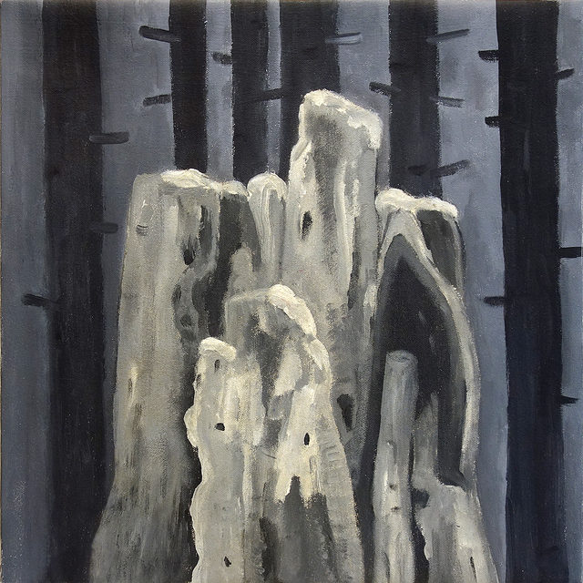 , 'Grisaille Stump IX MVE006,' 2019, George Lawson Gallery