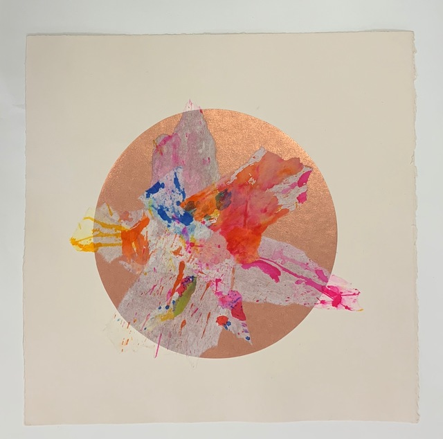 Margaret Manchee, 'Explosion', 2019, Print, Chin colle collage with washi paper, Firestation Print Studio