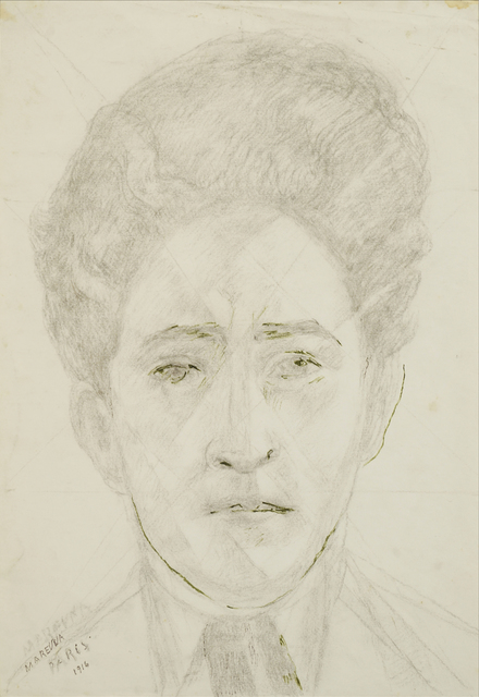 Marie Vorobieff Marevna, ''Jean Cocteau, Paris, 1916'', Roseberys
