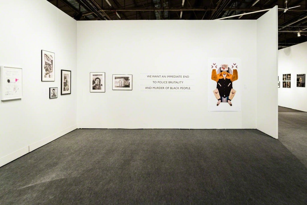 Installation of All Power: Visual Legacies of the Black Panther Party (Minor Matters, 2016) as a special exhibition at AIPAD, 2018. Installation shot by Robert Wade, whose photographs are also included in the exhibit.