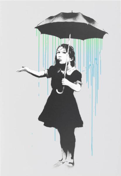 Banksy, 'Nola (Green/Blue Rain)', 2008, ArtLife Gallery