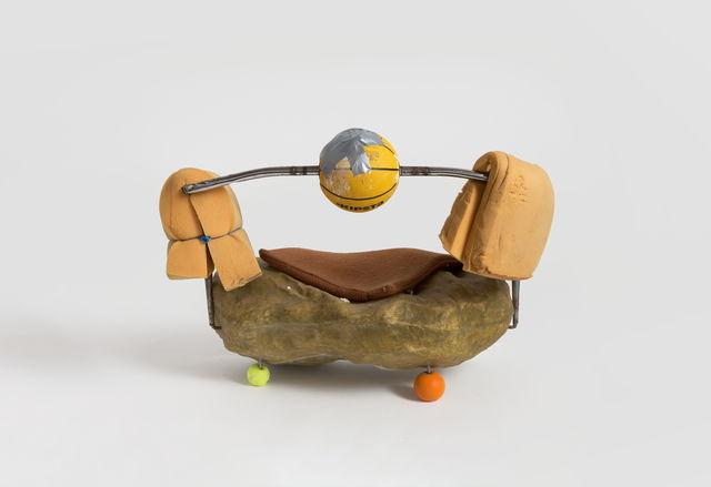 Zhou Yilun 周轶伦, 'Sofa Sculpture with Basketball and Scholar's Rocks', 2019, Beijing Commune