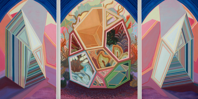 April Dawn Parker, 'Tell Me A Secret (triptych)', 2019, Painting, Oil on Linen, Andra Norris Gallery