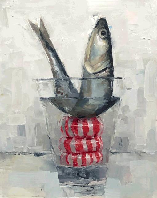Tom Giesler, 'Floral 38: peppermint fish', 2020, Painting, Oil on panel, McVarish Gallery
