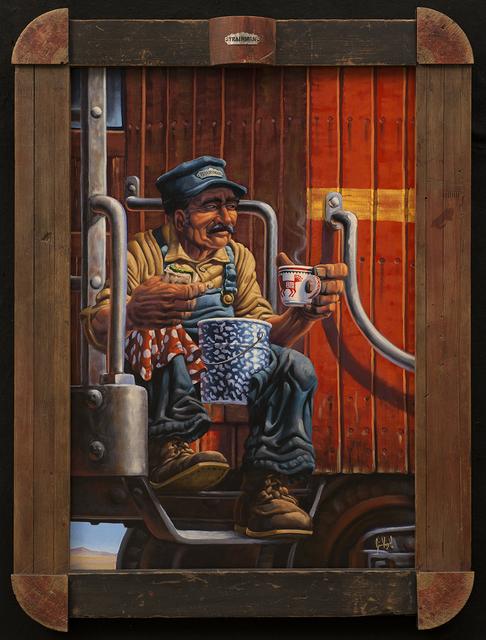 , 'Nuevo Mexico Trainman,' 2016, Blue Rain Gallery