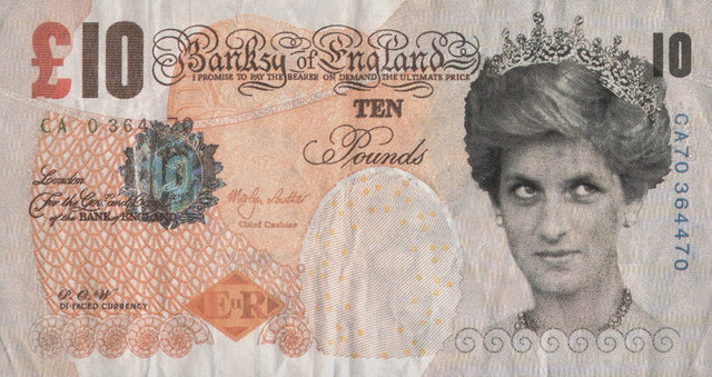 Banksy, 'Di-Faced Tenner, 10 GBP Note', 2005, Print, Offset lithograph in colors on paper, Heritage Auctions